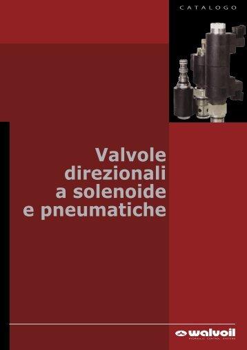 Valvole direzionali a solenoide e pneumatiche - Walvoil