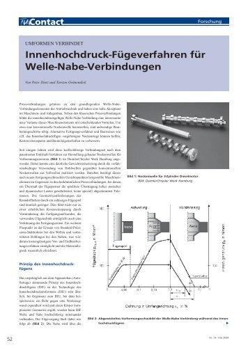 Innenhochdruck-Fügeverfahren für Welle-Nabe ... - TU Clausthal