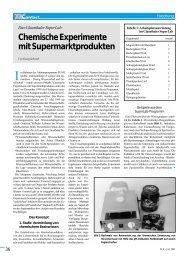 Chemische Experimente mit Supermarktprodukten - TU Clausthal