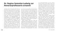 Dr. Regina Semmler-Ludwig zur Honorarprofessorin ... - TU Clausthal