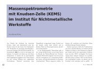 Massenspektrometrie mit Knudsen-Zelle - TU Clausthal