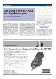 Sicherung und Sanierung von Tagebaukippen - TU Clausthal