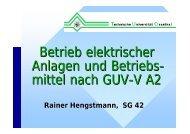Betrieb elektrischer Anlagen und Betriebs- mittel ... - TU Clausthal