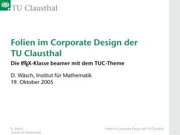 Anleitung und Beispiel Beamer-Präsentation (mit ... - TU Clausthal
