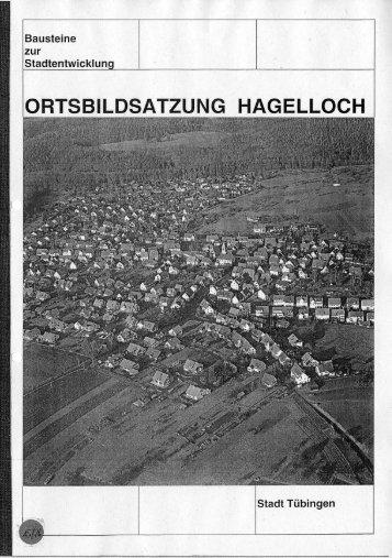 Ortsbildsatzung Hagelloch - in Tübingen