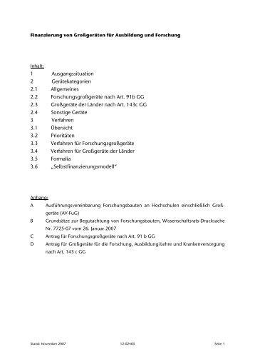 1 Ausgangssituation 2 Gerätekategorien 2.1 ... - TU Clausthal