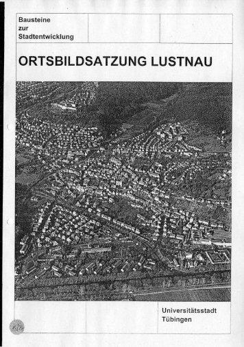Ortsbildsatzung Lustnau - in Tübingen
