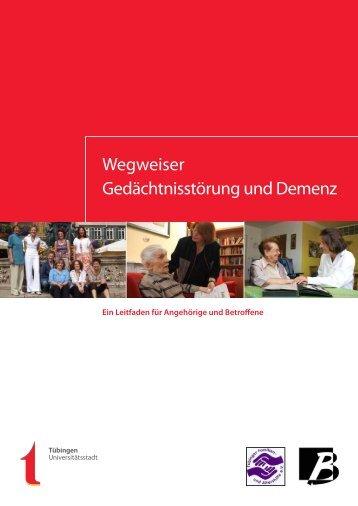 Wegweiser Gedächtnisstörung und Demenz - in Tübingen