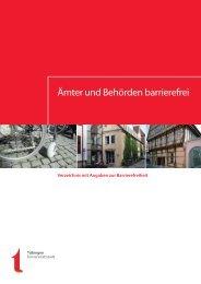 Ämter- und Behördenverzeichnis mit Angaben zur ... - in Tübingen