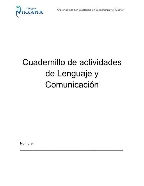 8a2d94a5bc Cuadernillo de actividades de Lenguaje y Comunicación - Codesin