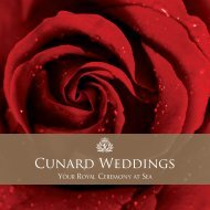 Cunard Weddings brochures - Cunard Line
