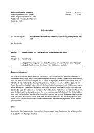 Vorlage 303-2012 Auswirkungen der Euro-Krise auf ... - in Tübingen