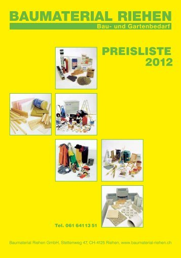 PREISLISTE 2012 - Baumaterial-Riehen