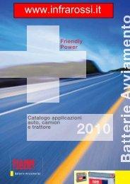 Catalogo Batterie Piombo Auto Camion Fiamm ita 2010