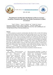 Morphological And Molecular Identification of Phaeoacremonium ...