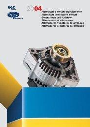 Alternatori e motori di avviamento Alternators and starter motors ...