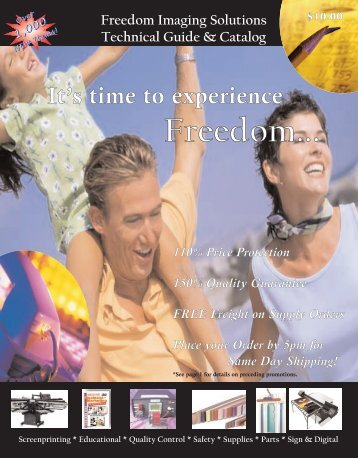 Experience Freedom Catalog 190 pages NOW!!. - Freedom Imaging ...