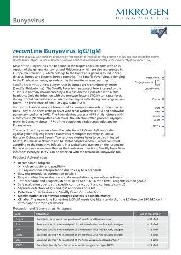 recomLine Bunyavirus IgG/IgM Bunyavirus - Mikrogen
