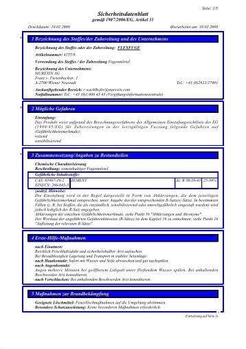 Sicherheitsdatenblatt - Murexin AG