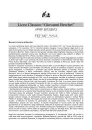 P.O.F. 2012-2013 - Liceo classico Giovanni Berchet