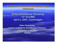 Treatment of rare and emerging fungal infections EFISG Educational ...