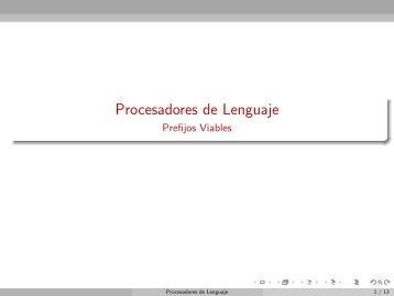 Procesadores de Lenguaje - Prefijos Viables