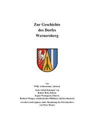 Zur Geschichte des Dorfes Wernersberg - Propax