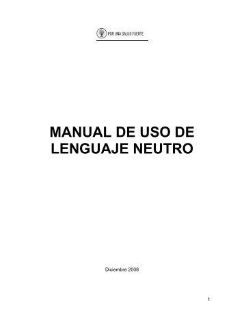 manual de uso de lenguaje neutro - Superintendencia de Salud