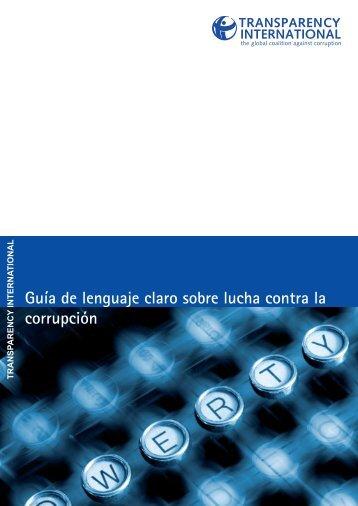 Guía de lenguaje claro sobre lucha contra la corrupción