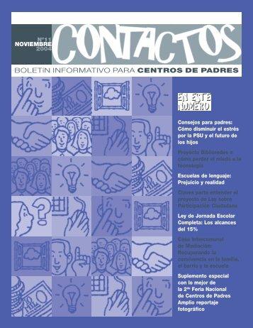 Boletín informativo para Centros de Padres y Apoderados - Unicef