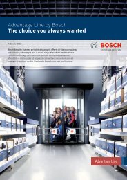 Advantage Line by Bosch The choice you always wanted - Senza titolo