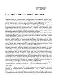 CARCINOMA SPINOCELLULARE DEL CAVO ORALE