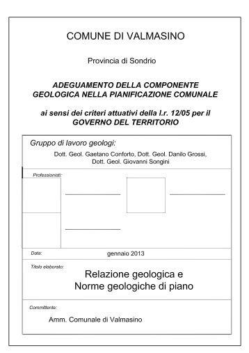 00 RELAZIONE GEOLOGICA E NORME ... - Rivista on-line