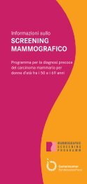 screening mammografico - Mammographie-Screening-Programm