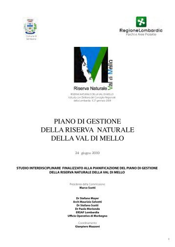 PIANO DI GESTIONE DELLA RISERVA NATURALE ... - Rivista on-line