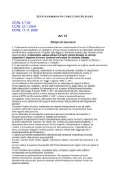 Codice Disciplinare Personale - Comune di Ragusa