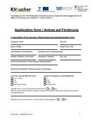 K-Voucher Antragsformular - TUM-Tech GmbH