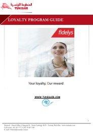 LOYALTY PROGRAM GUIDE - Tunisair