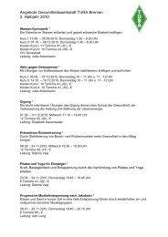 Angebote Gesundheitswerkstatt TURA Bremen ... - TURA Bremen eV