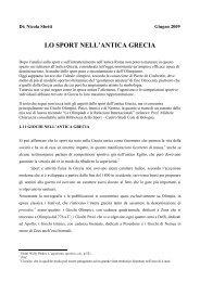 Lo sport nell'antica Grecia (file .pdf) - Centro studi CONI Bologna