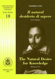 Il natural desiderio di sapere - La Santa Sede