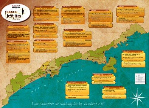 Mapa reduzido do caminho - Programa Caminha São Paulo