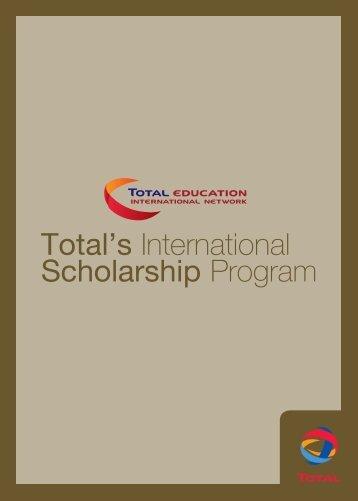 Total's International Scholarship Program - Total.com