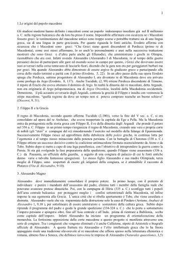 Appunti di storia macedone