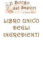Libro unico degli ingredienti - Il Borgo dei Sapori