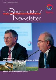 Shareholders' Newsletter #23 - 2006 Special Results - Total.com