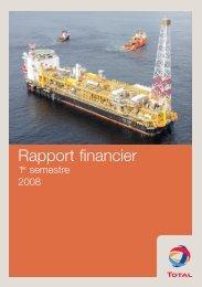 Rapport Financier 1 er semestre (pdf - 3,8 - Total.com