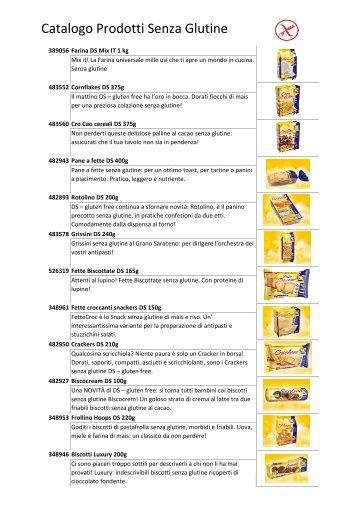 Catalogo prodotti senza glutine - Fassa Coop