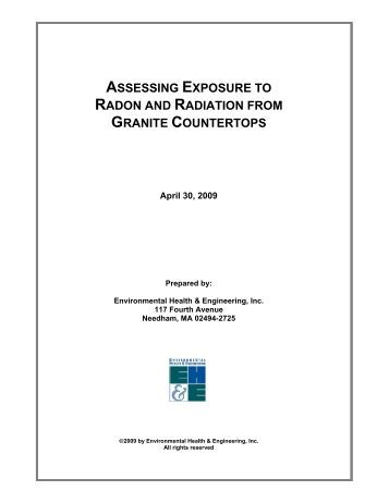 assessing exposure to radon and radiation from granite ... - EH&E INC