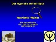 Der Hypnose auf der Spur Henriette Walter - Turm der Sinne